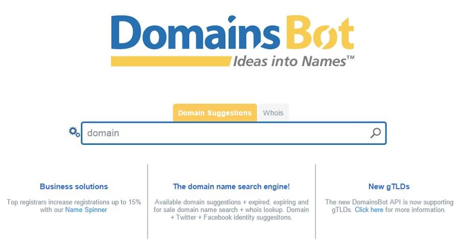 domain name generator domain bot